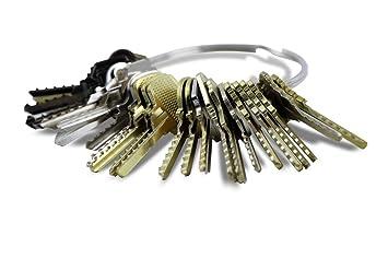 Kit de llaves bumping Bump-Keys para cerraduras de serreta, sierra dientes, Garantizadas (Kit 24 llaves Nº1): Amazon.es: Bricolaje y herramientas