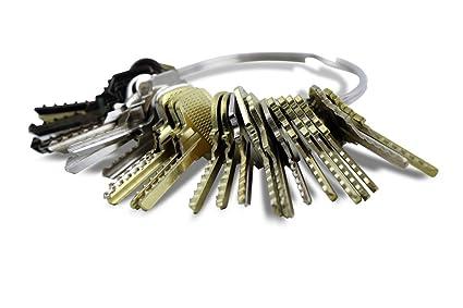 Kit de 24 llaves bumping Bump-Keys para cerraduras de serreta - España Num.