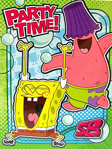 SpongeBob 'Bubbles' Invitations and Thank You Notes w/ Env. (8ct)* (Spongebob Birthday Invitations)