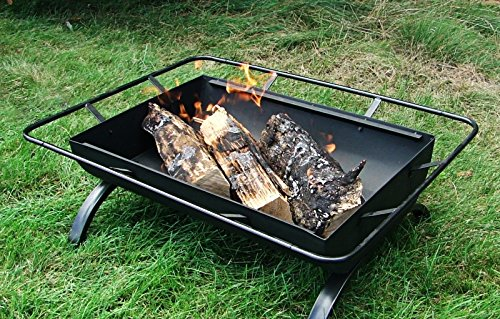 Fire Pits Sunnydaze Northland Outdoor Fire Pit – 36 Inch Large Wood Burning Patio & Backyard Firepit for Outside with Cooking BBQ… firepits