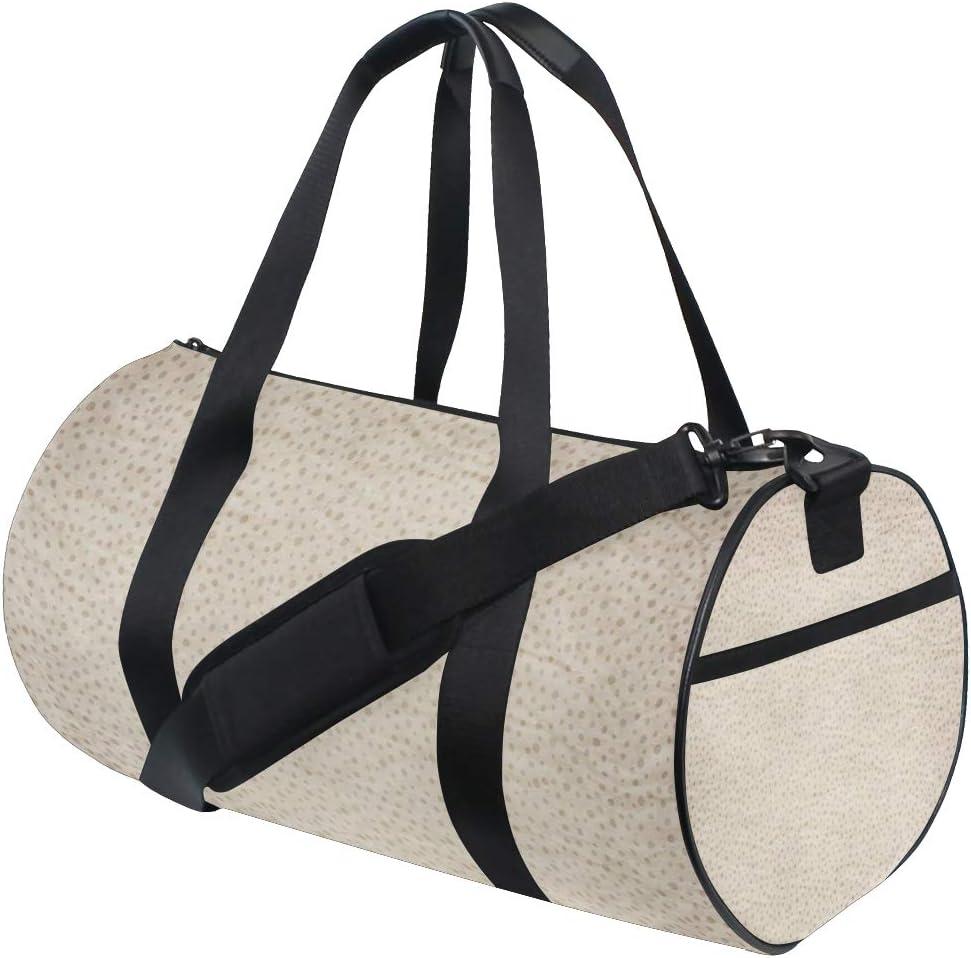MALPLENA Wrinkle Paper Pattern Drum gym duffel bag women Travel Bag