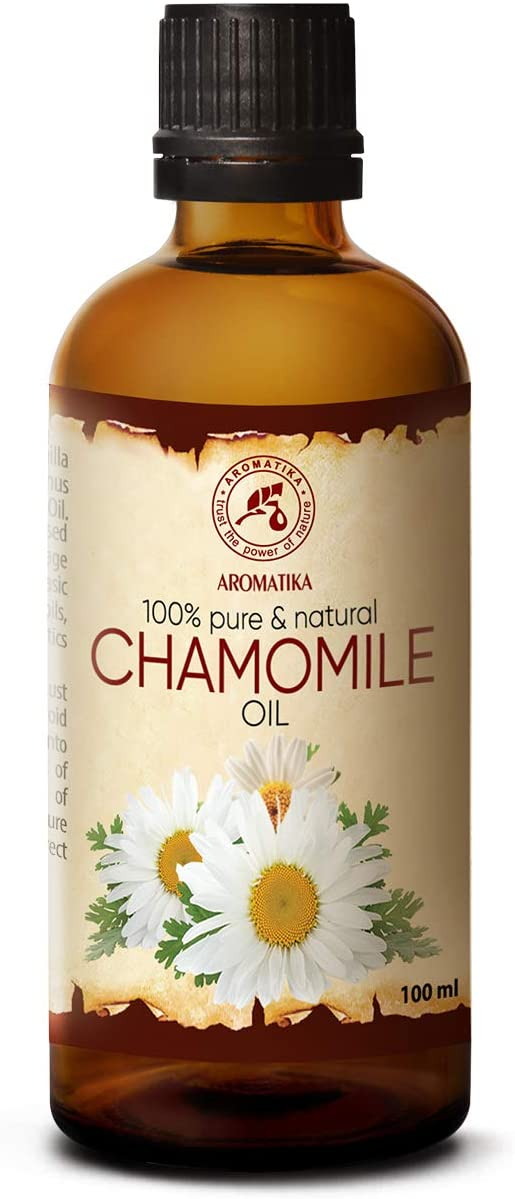 Aceite de Manzanilla 100ml - 100% Puro & Natural - Ideal para el Cabello - Piel - Cuerpo - Masaje - Aceite Hidratante & Calmante - Naturkosmetik - Chamomile Oil