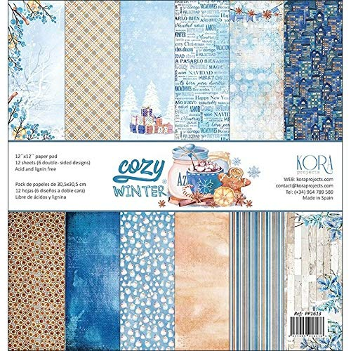 /Cozy Winter / 12/ X12/ Confezione da 12/fogli