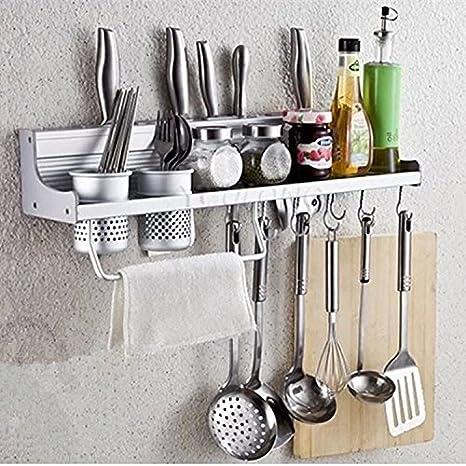 CCWY El espacio de pared de aluminio doble copa simple portavasos cocina racks ,60CM sola taza: Amazon.es: Hogar