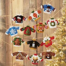 Herrschners Ugly Sweater Ornaments Knit Yarn Kit