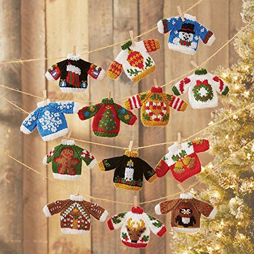 Herrschners® Ugly Sweater Ornaments Knit Yarn Kit