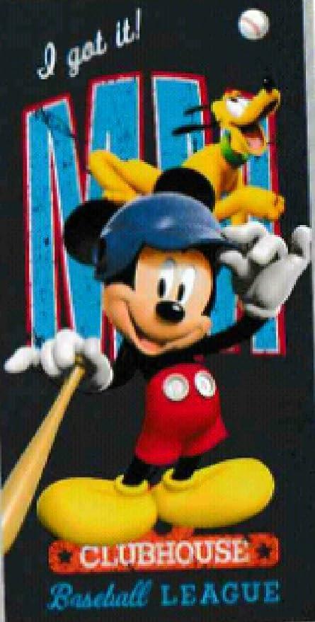 Regalo + TOALLA PLAYA EXCLUSIVA mickey mouse MM, 140x70cm algodón, regalo de PACK CALCETINES