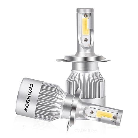 Catinbow 2pcs H4/HB2/9003 LED Bombillas Interior Coche, 72W 7200LM LED Faros