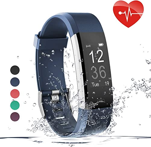 Zwirelz Fitness Tracker HR, Activity Tracker Watch with Heart Rate Monitor, Waterproof Smart Fitness Band with Step Counter, Calorie Counter, Pedometer Watch for Kids Women and Men Blue