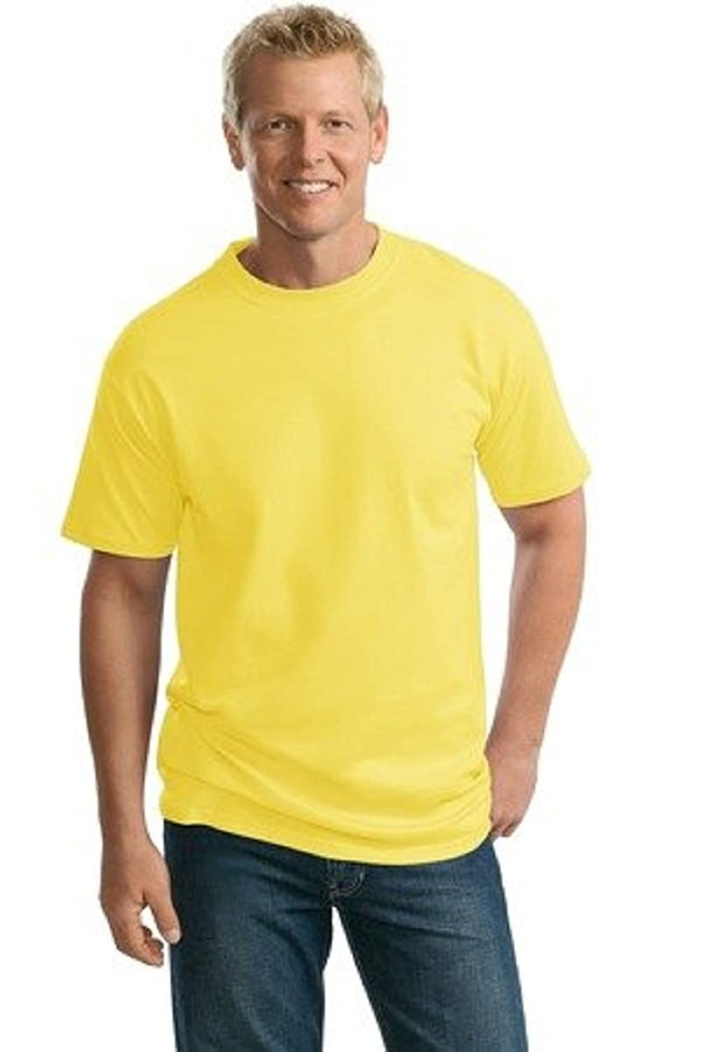 Port & Company Cotton T-Shirt (PC61T) Available in 12 Yellow PC61T XLT