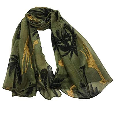 b79701741dcf3 Écharpes châle foulards HUHU833 Femmes mode impression girafe longue  écharpe châle Automne Hiver