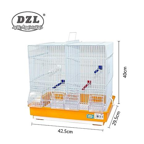 DZL jaula para pajaros(42.5X29.5X40CM) (NARANJA): Amazon.es ...