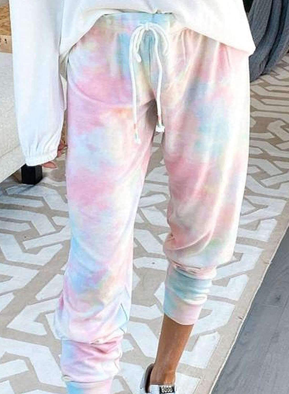 Uusollecy Womens Casual Jogger Pants Cotton Sweatpants Elastic Waist Drawstring Pants with Pockets