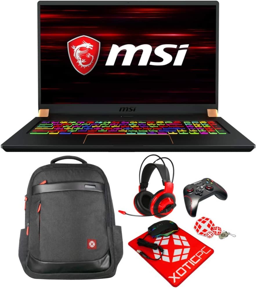 "MSI GS75 Stealth 10SFS-028 Essential (i9-10980HK, 64GB RAM, 2X 2TB NVMe SSD, RTX 2070 Super 8GB, 17.3"" Full HD 300Hz 3ms, Windows 10 Pro) VR Ready Gaming Laptop"