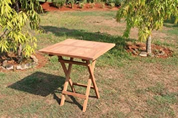 Amazon De Echt Teak Tisch Gartentisch Teaktisch Klappbar 70 X 70 X