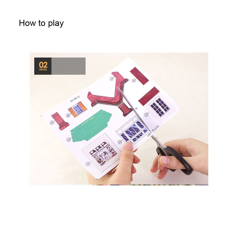 ROBOTIME Miniature British Pub Creative Wooden Model Building DIY Dollhouse Kit or Toys for Adults or Kids