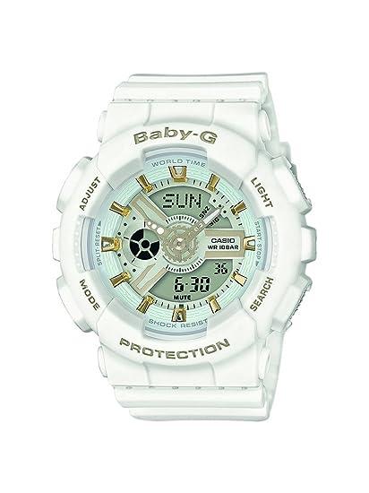 Casio Reloj Analogico-Digital para Mujer de Cuarzo con Correa en Resina BA-110GA-7A1ER: Amazon.es: Relojes