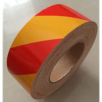 "PerfecTech Reflective Tape 2"" x 150' Traffic Reflective Safety Warning Tape Stickers Stripe Waterproof (Red-Orange): Automotive"