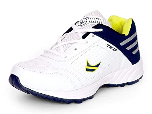 dc4eb5ee4f2d Touchwood Shot White Sports Shoes for Men (Size  6-12 IND UK)  Buy Online  at Low Prices in India - Amazon.in