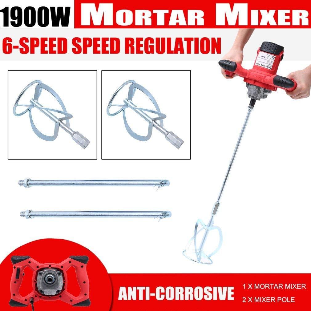 1900w-2 Blade Power Mixer 1900W Industrial Electric Mixer Concrete ...