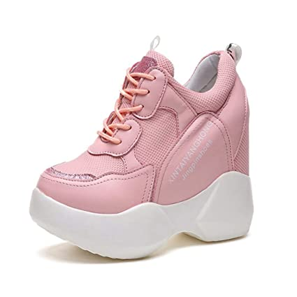 30017e8fff1b6 Amazon.com: DOSOMI Women Sneakers Mesh Height Increasing Platform ...