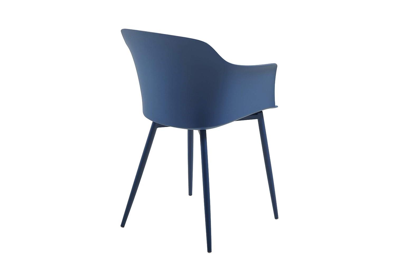Blu Scuro Polipropilene Homemania Corona Sedia 59 x 81.5 x 53 cm Set di 2