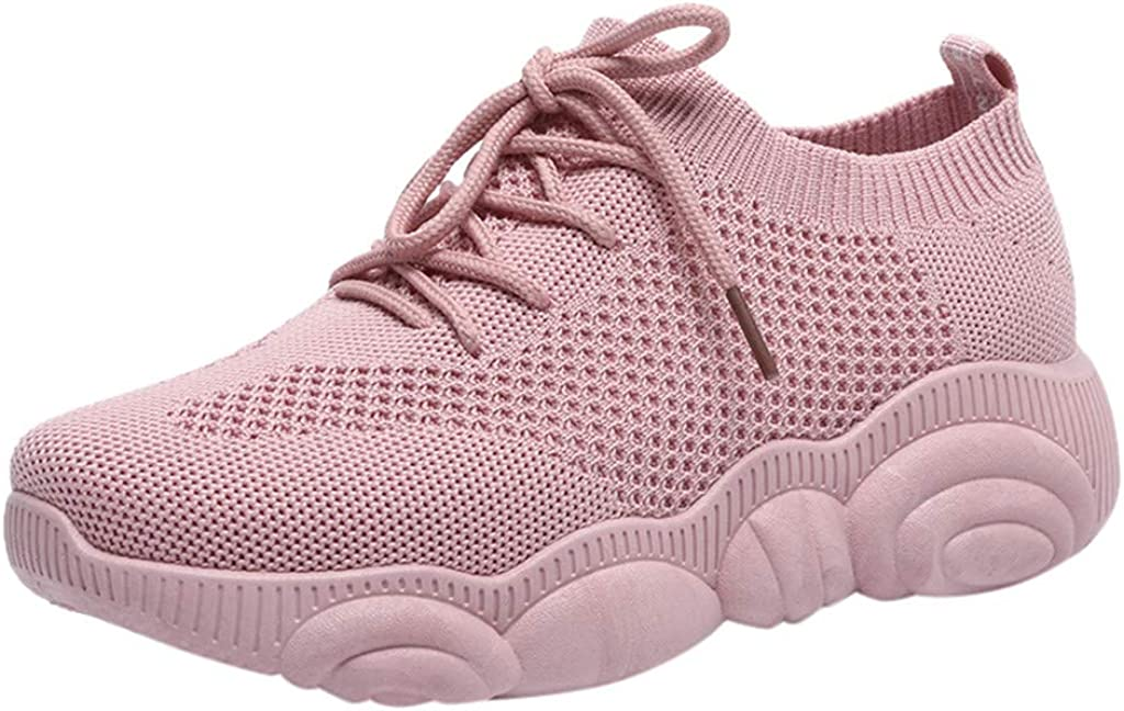 Womens Running Lightweight Breathable Casual Sports Shoes Fashion Sneakers Walking Shoes Athletic Fitness Shoes