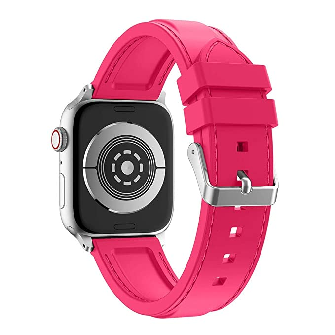 Amazon.com : XBKPLO Sports Fashion Silicone Band Compatible for Apple Watch Band Series 4 42mm 44mm Series 3/2/1 Replacement Strap Cuff Jelly Bracelet : Pet ...