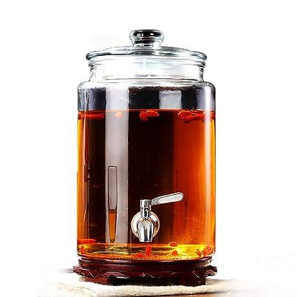 Dispensador De Bebidas con Spigot, Dispensador De Bebidas con Bebidas Frías Mason Jar- Capacidad