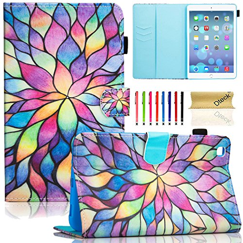 SM-T310/T311 Case, Galaxy Tab 3 8.0 Case, Dteck Cartoon Smart Flip Folio Case with [Auto Sleep Wake] Protective Synthetic Leather Stand Wallet Cover for Samsung Galaxy Tab 3 8.0 Tablet--Colorful (Colorful Smart Cover)