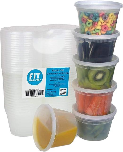 Amazon.com: Contenedores de almacenamiento de alimentos con ...