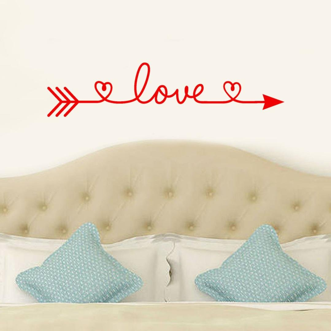 Iuhan® Love Arrow Wall Stickers, Removable Love Arrow Art Vinyl Mural Home Room Decor Wall Stickers (Red) by Iuhan® (Image #3)