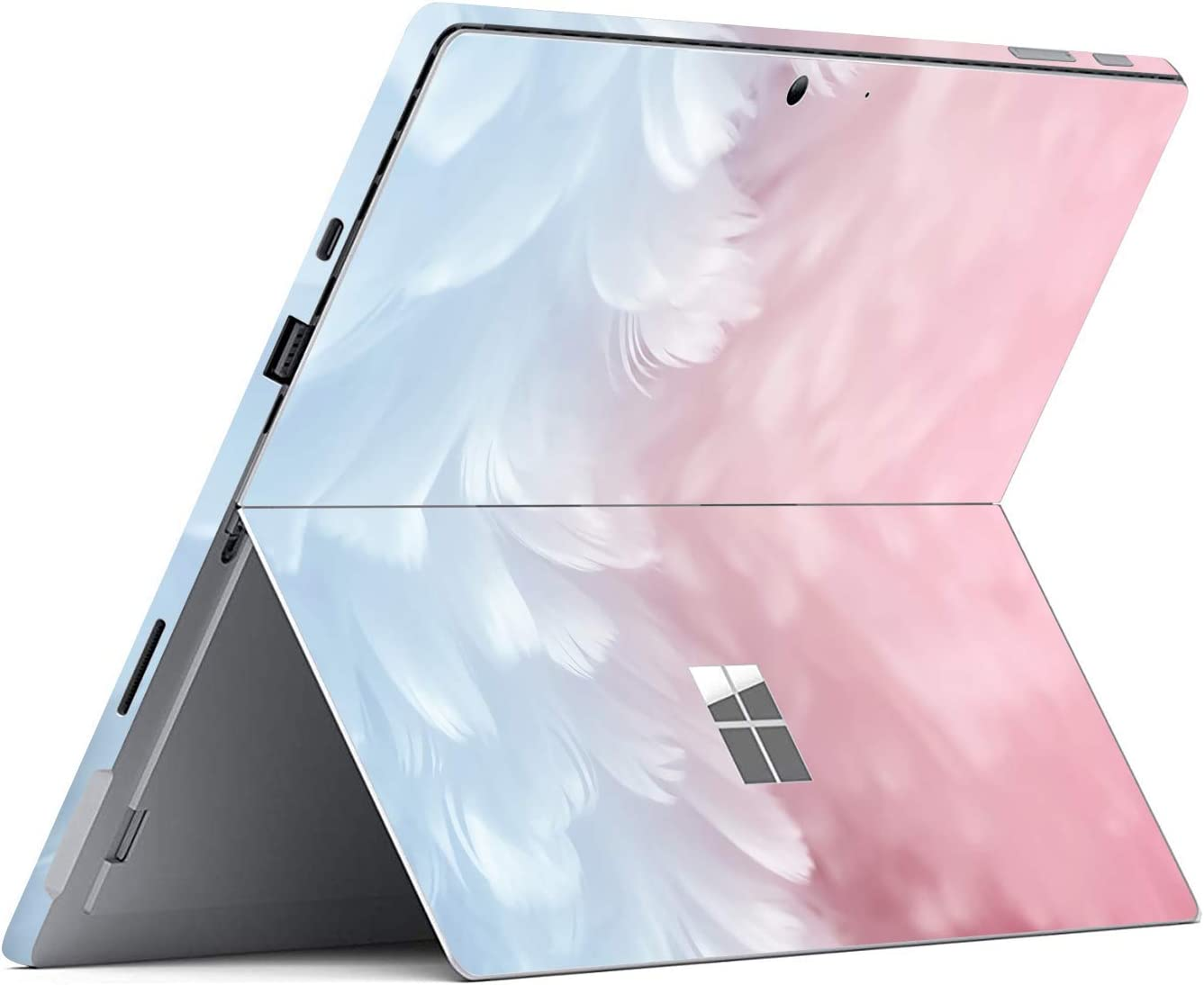 MasiBloom Decal Sticker for Microsoft Surface Pro 7 (2019 Released) 12.3 inch Anti-Scratch Vinyl Protective Cover Skin (for 12.3 inch Surface Pro 7, Feather)