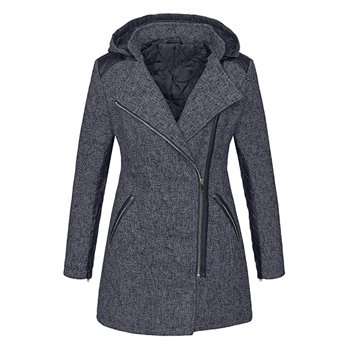 great fit 16e9f 71da4 Damen Langer Winterjacke Frauen Winter Warme mit Kapuze ...