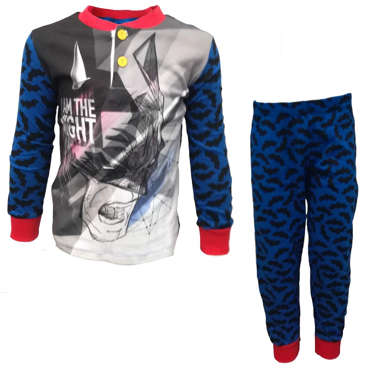 Abbigliamento e accessori per bambini dai 2 ai 16 anni WE16160 Pigiama Bambino Lungo in Cotone Jersey Batman Art