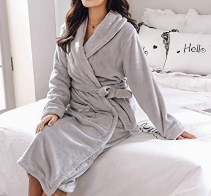 794957bcc8 DEED Pajamas - Autumn and Winter Thick Couple Lovers Nightgown Coral Fleece  Men and Women Plus