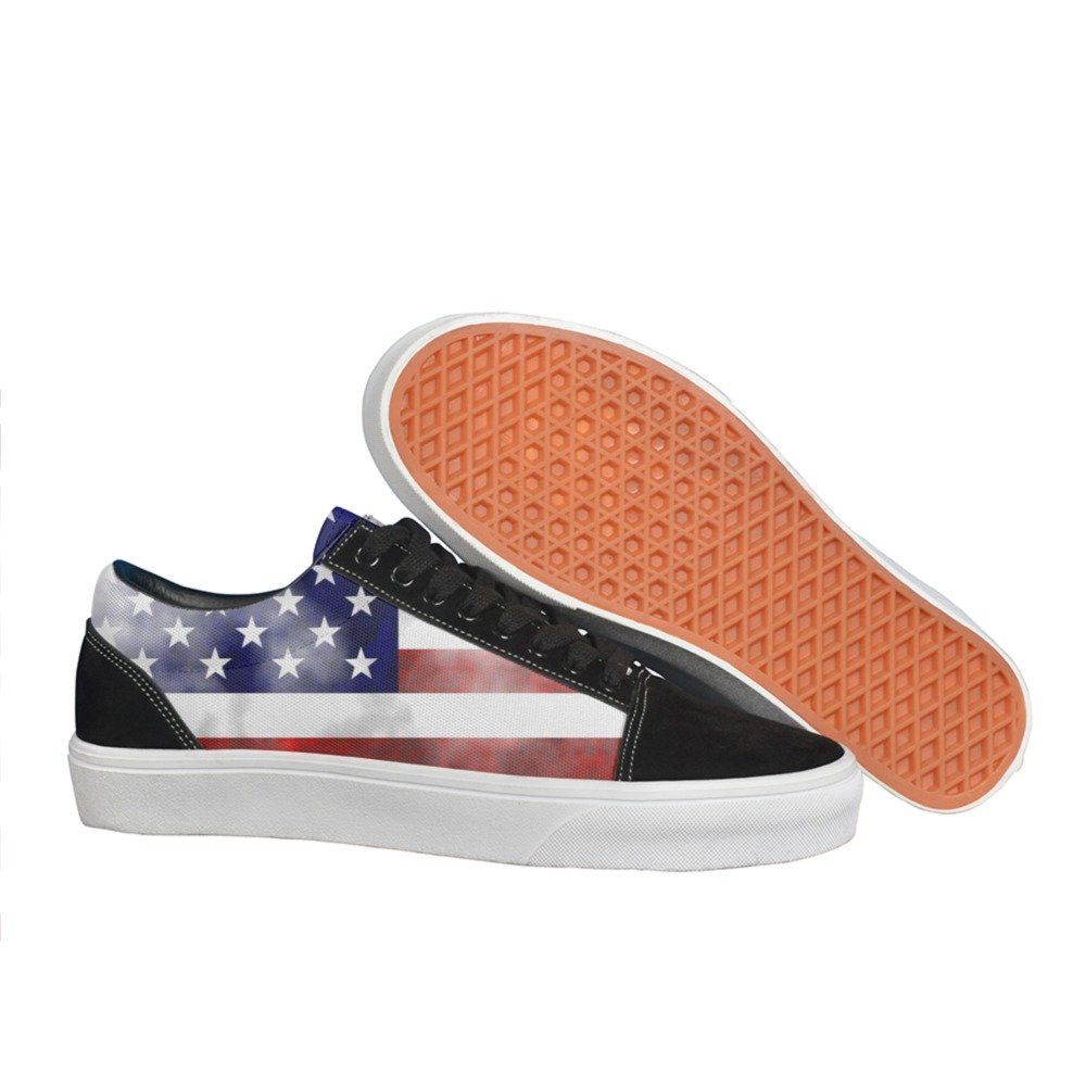 distressed american flag man.men.sportsman Casual shoes Slip-On customize Fashion new