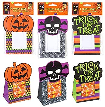 Amazon.com : Flomo Halloween Paper Treat Sacks(pack Of 72 ...