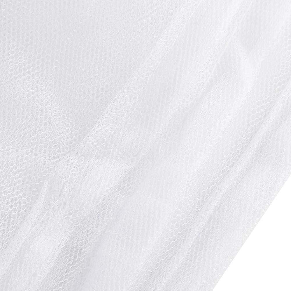 JULYKAI muggennet, 4 hoekpalen voor bed baldakijn, muggennet full queen geschikt voor full to king size bed wit