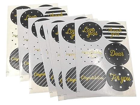 Amazon.com: Alimitopia - Juego de 90 pegatinas decorativas ...