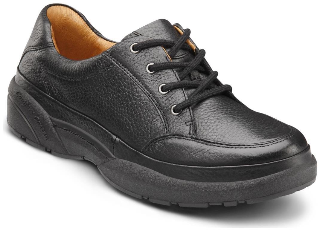 Dr. Comfort Justin Men's Therapeutic Diabetic Extra Depth Shoe: Black 14 X-Wide (3E/4E) Lace