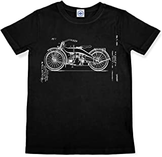 product image for Hank Player U.S.A. Harley Motorcycle Patent Men's T-Shirt