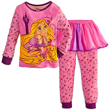 Image Unavailable. Image not available for. Color  Disney Store Rapunzel  Tangled Tutu Set 3 Pieces Pajama ... f7a539e2b