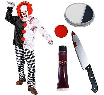 Déguisement accessoires pour adulte de clown tueur en série avec un haut et  son pantalon + 0672ce38e2f