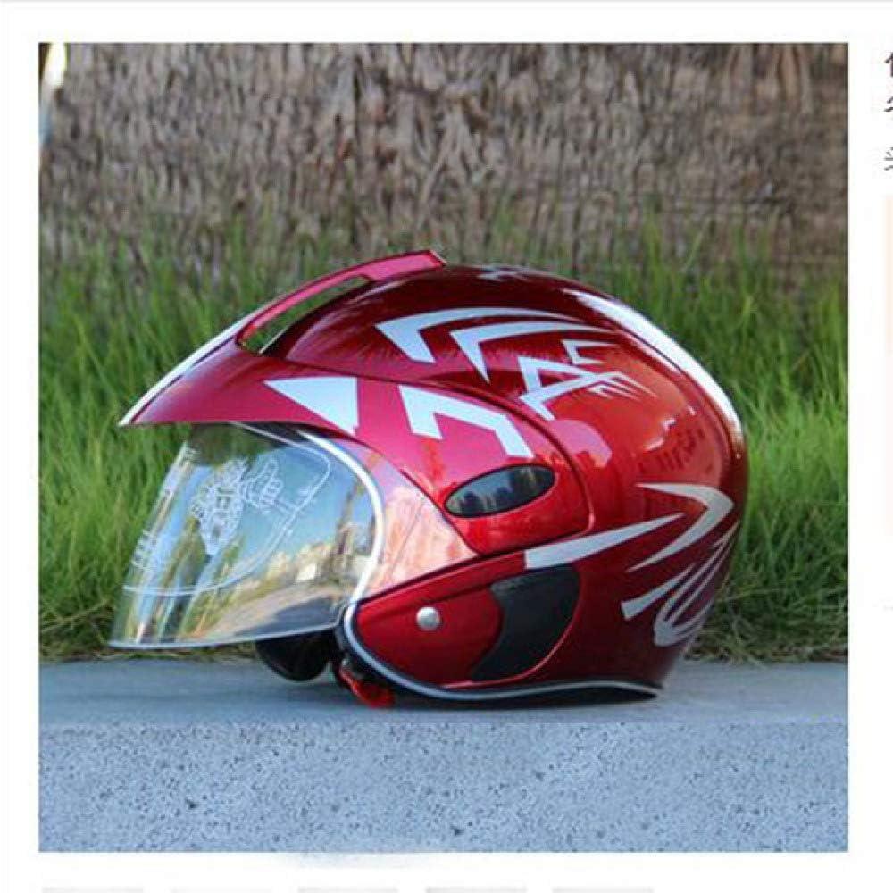 Berrd Motocicleta para ni/ños Motocicleta Casco para motocicleta Invierno C/álido y c/ómodo para 9 a/ños de edad Casco de seguridad para ni/ños de protecci/ón Negro