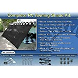 RV Awning Shade Complete Kit 8'x20' (Black) by RV Awning Shade