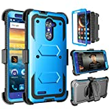 ZTE ZMAX Pro Case, ZTE Carry Case, Tinysaturn(TM) [Yvenus Series] Shock Absorbing Holster Belt Clip [Built-In Screen] Rugged Hard Shell Kickstand Cover Case For ZTE ZMAX Pro ZTE Carry Z981 [Blue] Review