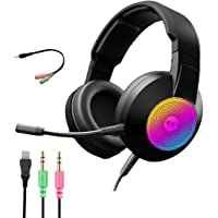 FORONIC Audifonos Gamer con Micrófono HD para PC /Laptops /Xbox One /PS4 /Nintendo Switch, Headset Gaming con…