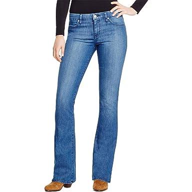 644503e0 Amazon.com: Sanctuary Womens Alexa Mid-Rise Medium Wash Flare Jeans ...
