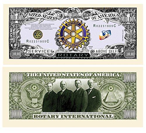 Set of 5 - Rotary Club Rotarian Million Dollar Bill